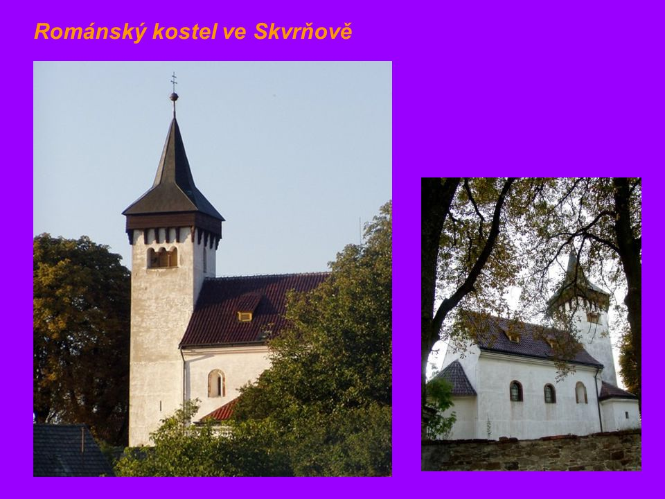 Románský kostel ve Skvrňově