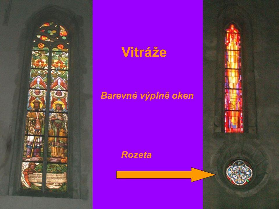 Vitráže Barevné výplně oken Rozeta