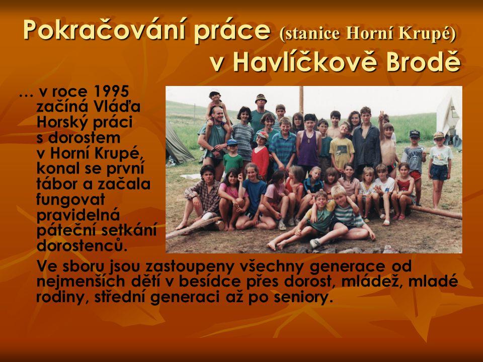 Pokračování práce (stanice Horní Krupé) v Havlíčkově Brodě