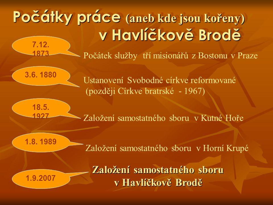 Počátky práce (aneb kde jsou kořeny) v Havlíčkově Brodě