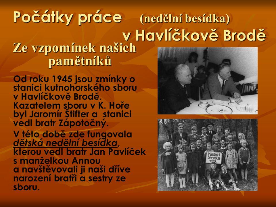 Počátky práce (nedělní besídka) v Havlíčkově Brodě