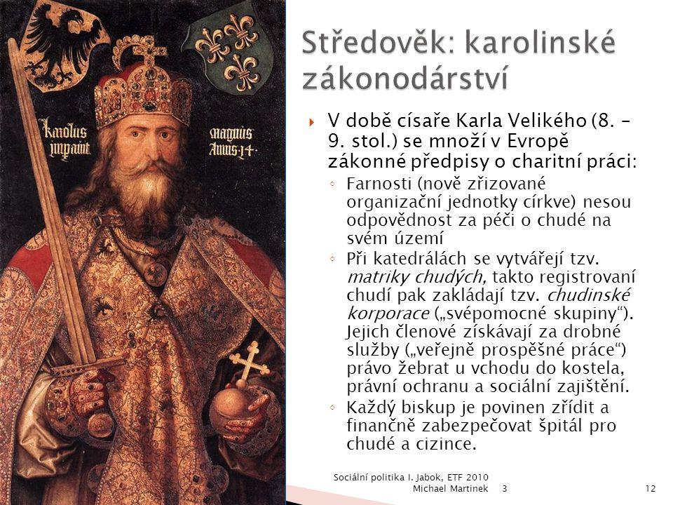 Středověk: karolinské zákonodárství