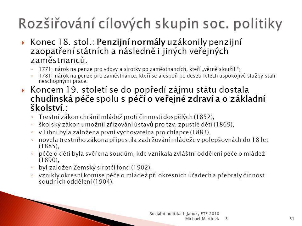 Rozšiřování cílových skupin soc. politiky