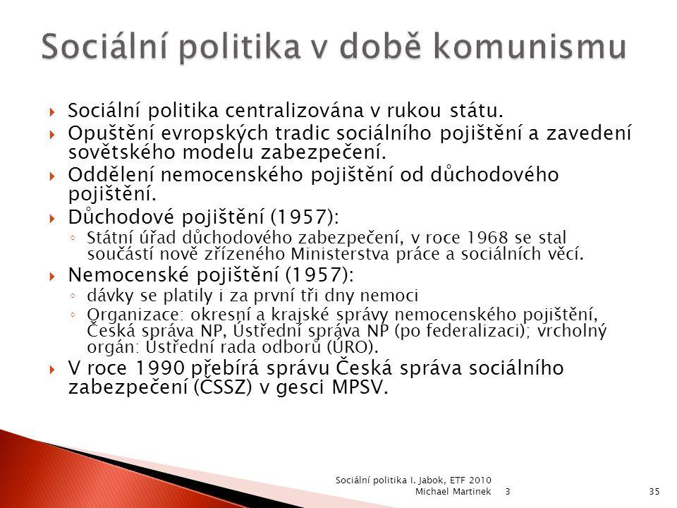 Sociální politika v době komunismu