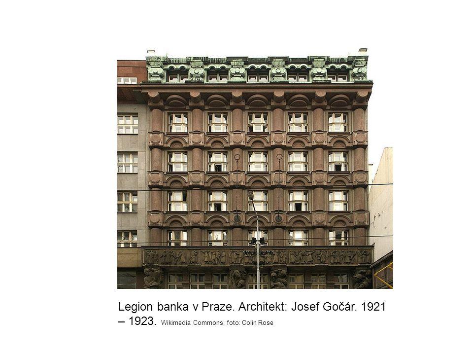 Legion banka v Praze. Architekt: Josef Gočár. 1921 – 1923