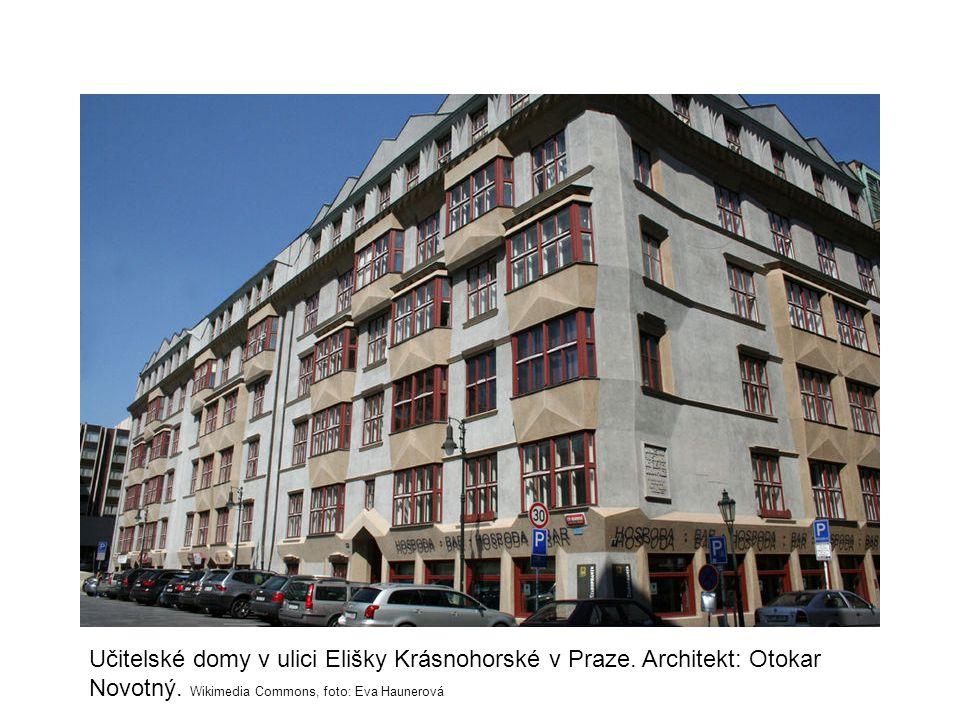 Učitelské domy v ulici Elišky Krásnohorské v Praze