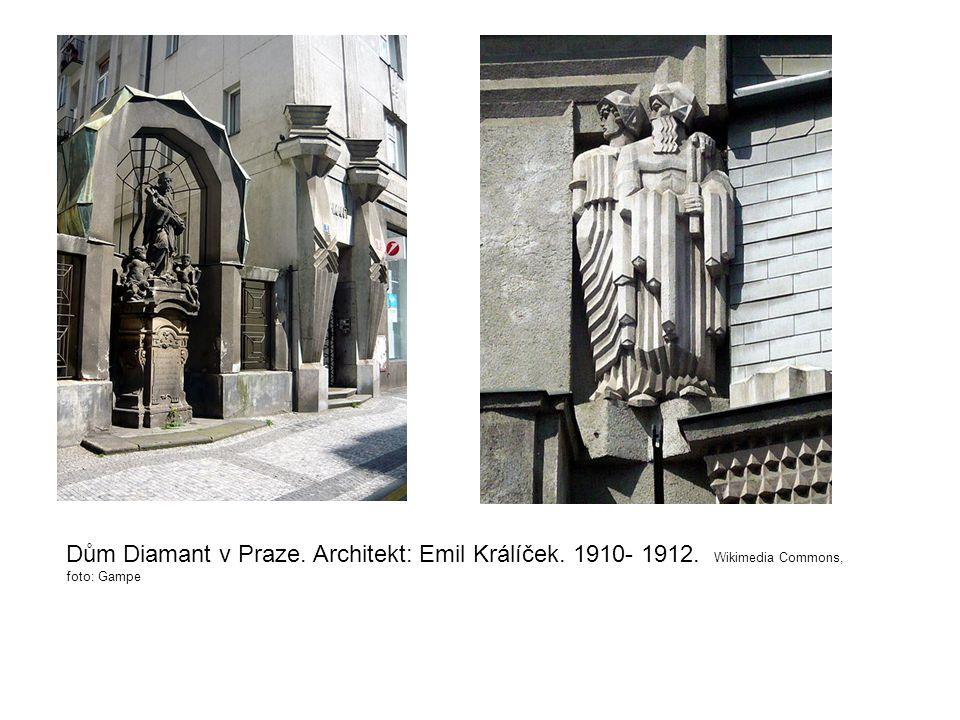 Dům Diamant v Praze. Architekt: Emil Králíček. 1910- 1912
