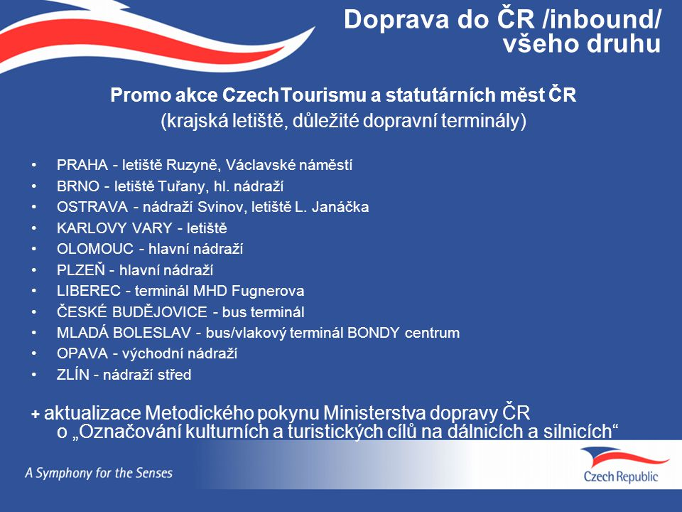 Doprava do ČR /inbound/ všeho druhu