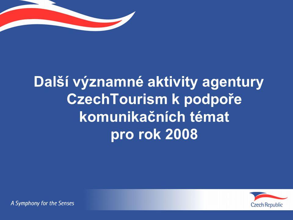 Další významné aktivity agentury CzechTourism k podpoře komunikačních témat pro rok 2008