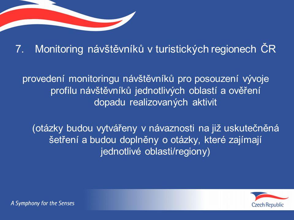 Monitoring návštěvníků v turistických regionech ČR