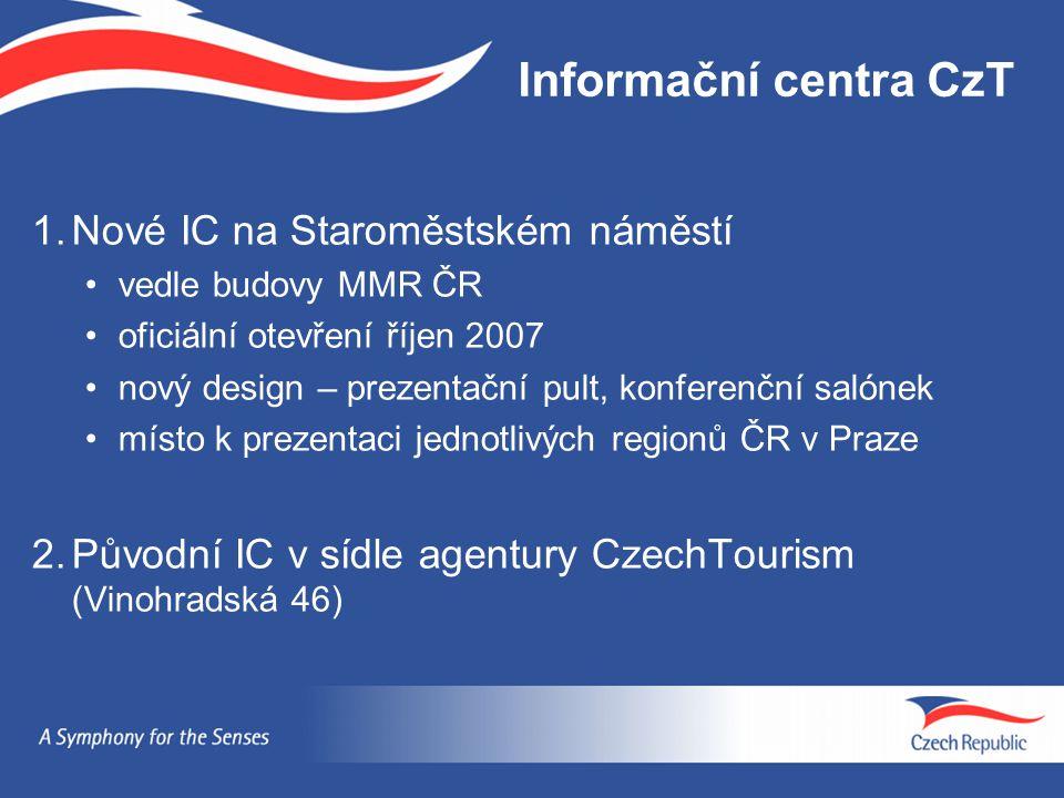 Informační centra CzT 1. Nové IC na Staroměstském náměstí