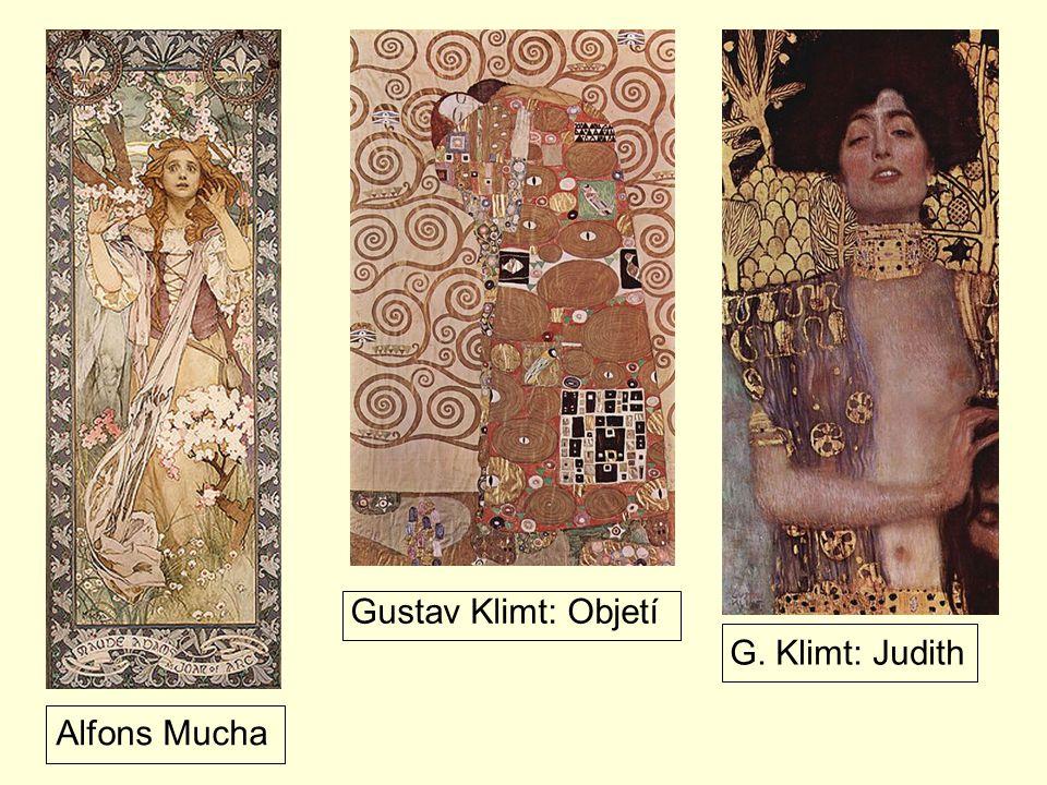 Gustav Klimt: Objetí G. Klimt: Judith Alfons Mucha