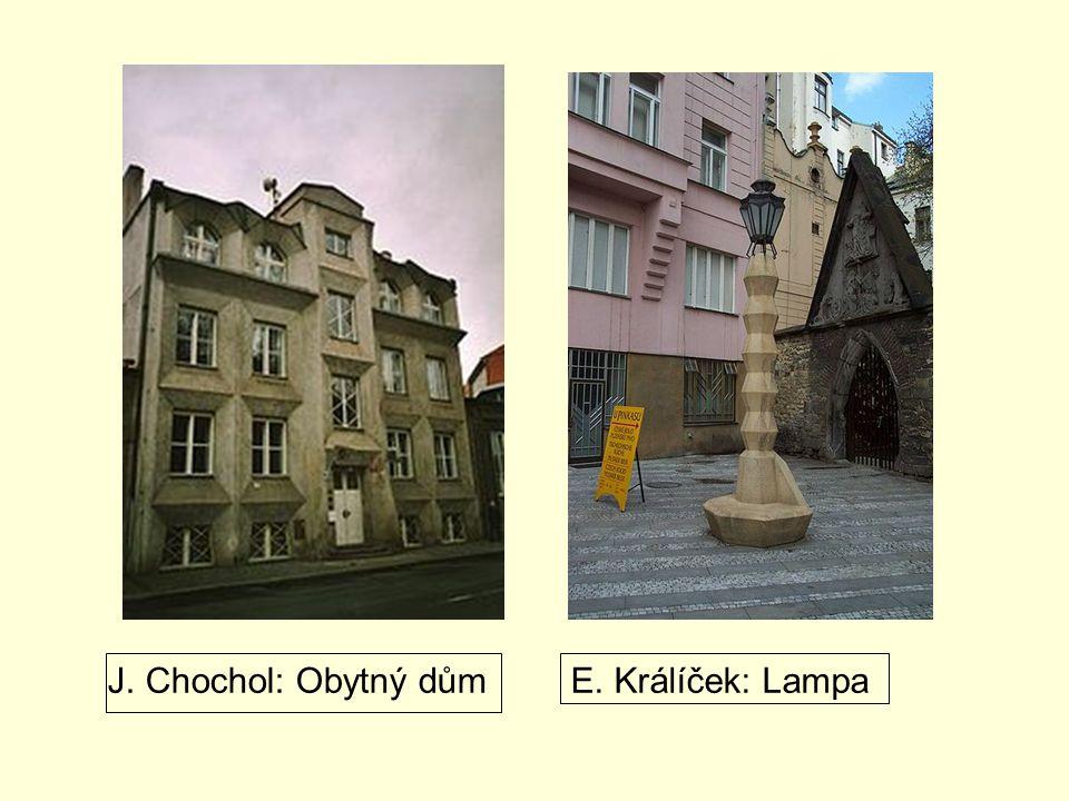 J. Chochol: Obytný dům E. Králíček: Lampa