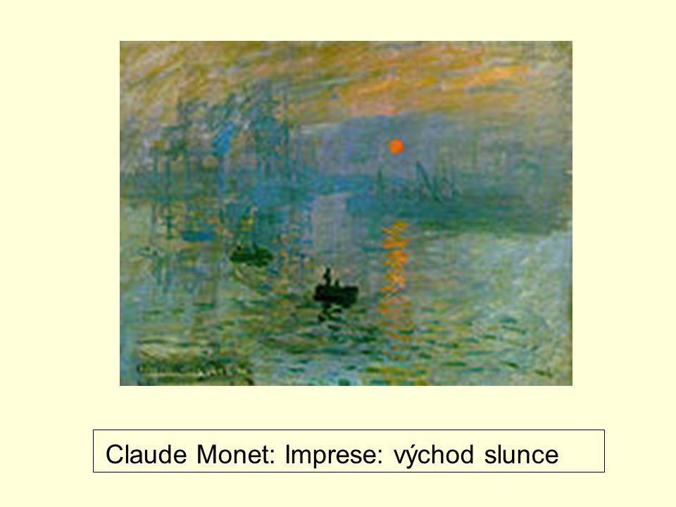 Claude Monet: Imprese: východ slunce