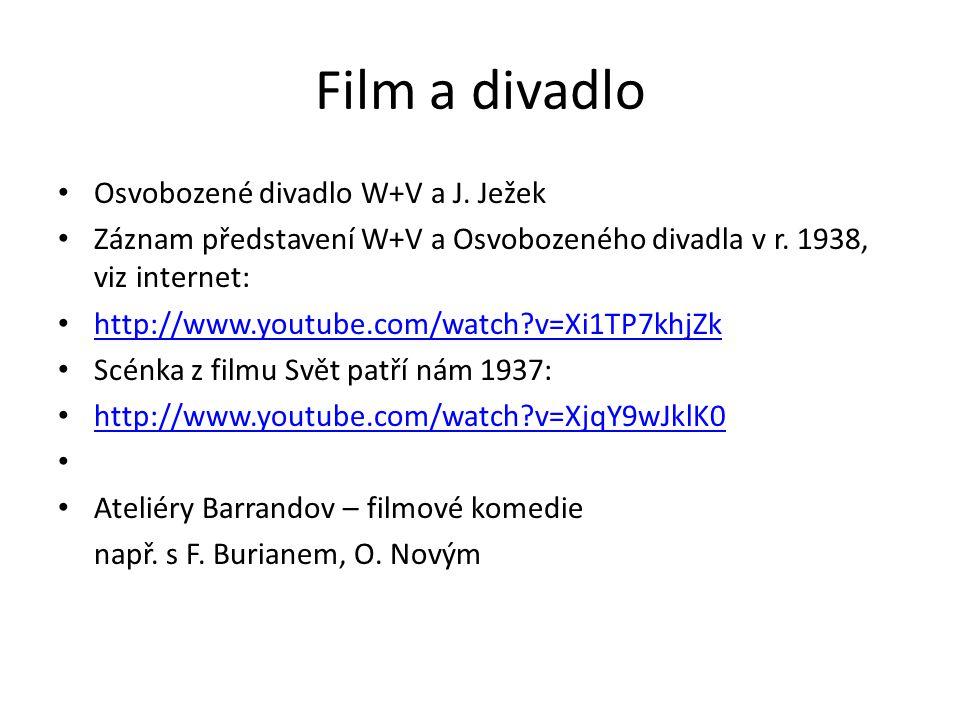 Film a divadlo Osvobozené divadlo W+V a J. Ježek