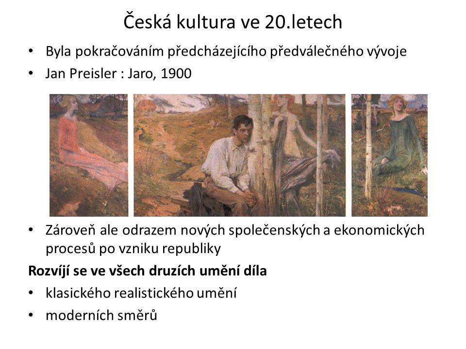 Česká kultura ve 20.letech