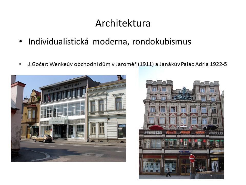Architektura Individualistická moderna, rondokubismus