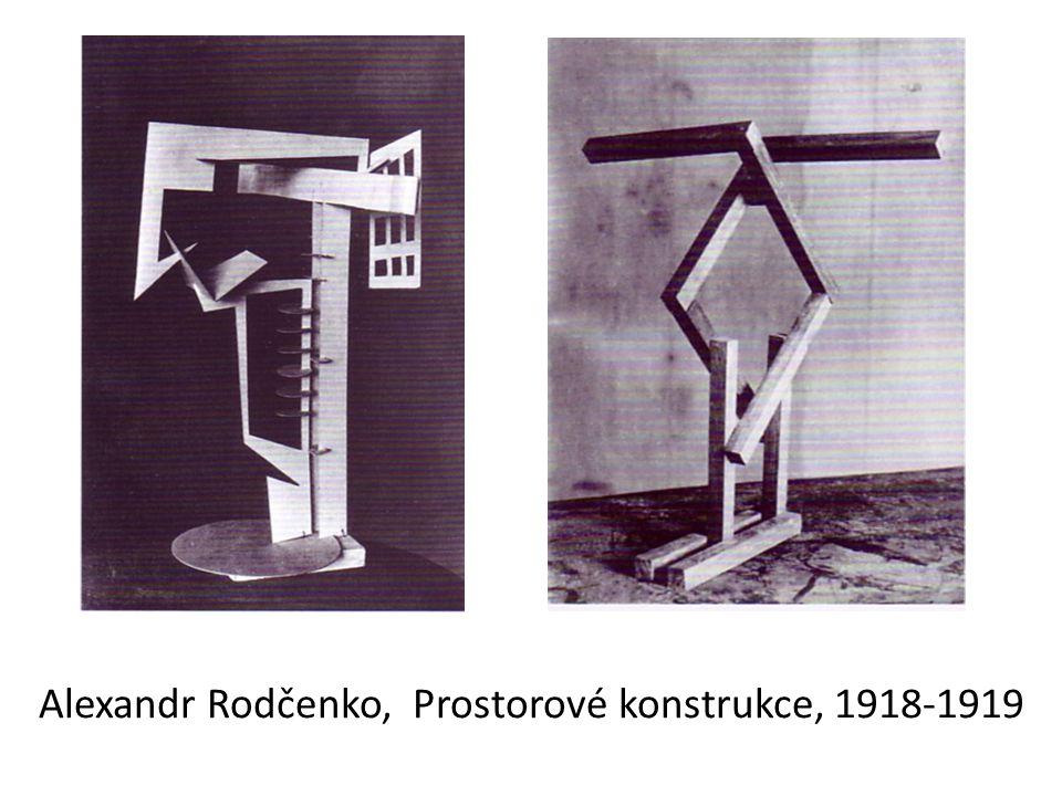 Alexandr Rodčenko, Prostorové konstrukce, 1918-1919