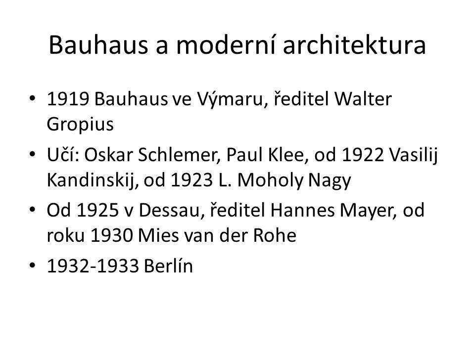 Bauhaus a moderní architektura