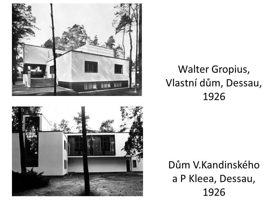 Walter Gropius, Vlastní dům, Dessau, 1926 Dům V