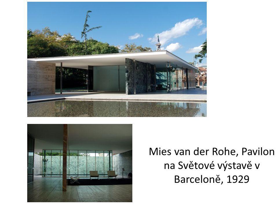 Mies van der Rohe, Pavilon na Světové výstavě v Barceloně, 1929