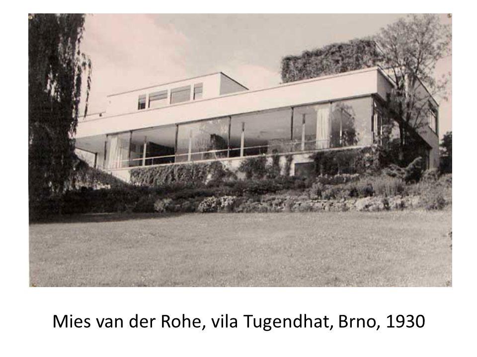 Mies van der Rohe, vila Tugendhat, Brno, 1930