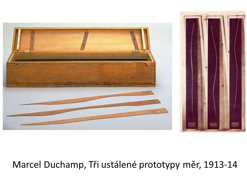 Marcel Duchamp, Tři ustálené prototypy měr, 1913-14
