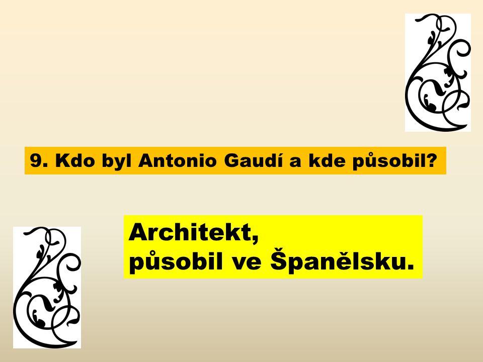 Architekt, působil ve Španělsku.