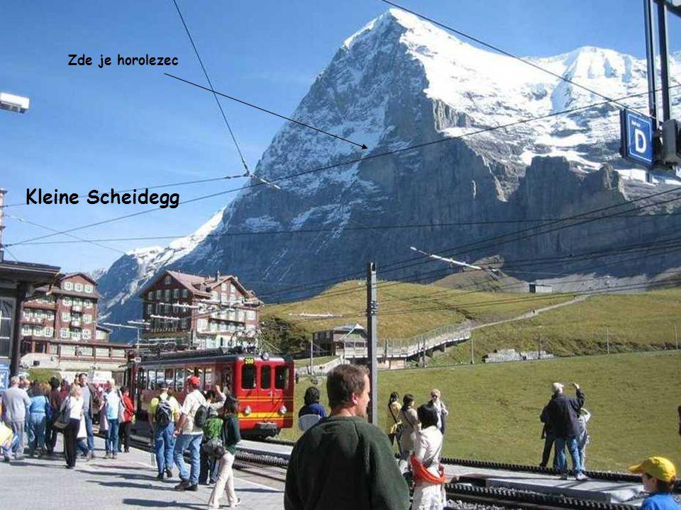 Zde je horolezec Kleine Scheidegg