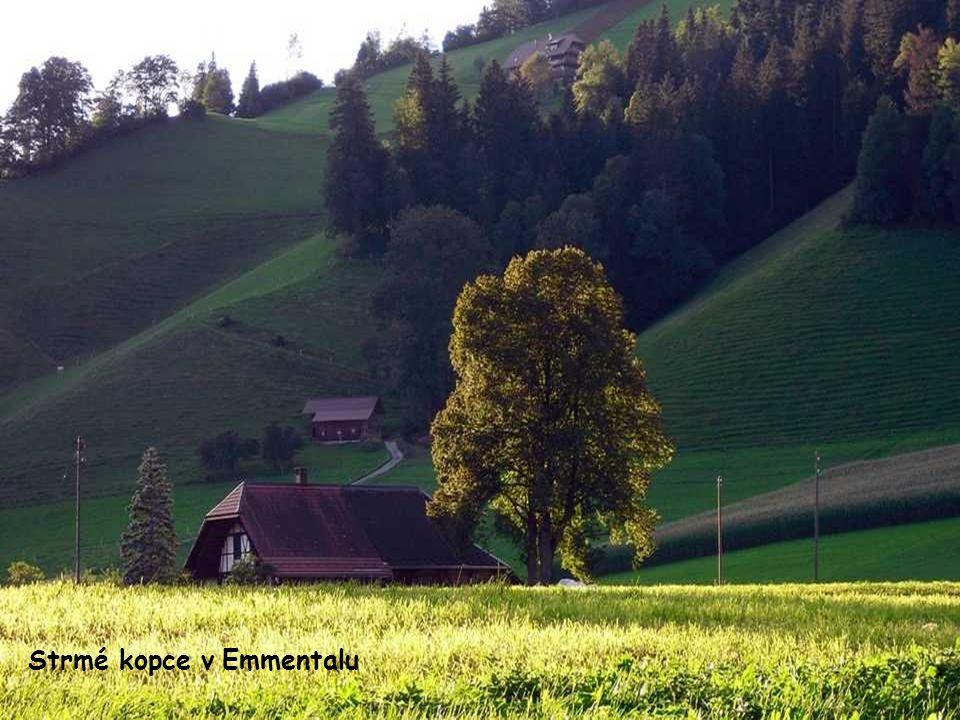 Strmé kopce v Emmentalu