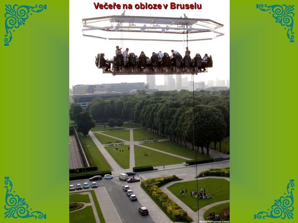 Večeře na obloze v Bruselu