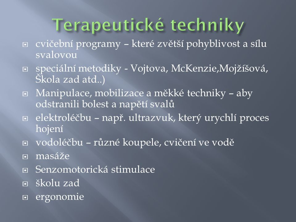 Terapeutické techniky