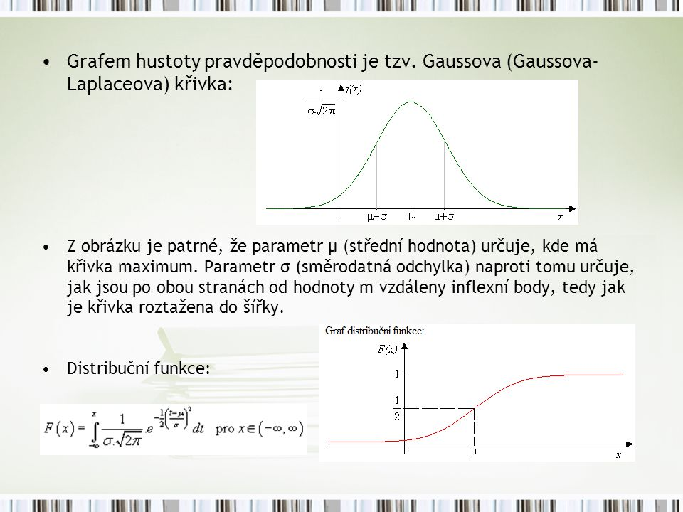 Grafem hustoty pravděpodobnosti je tzv
