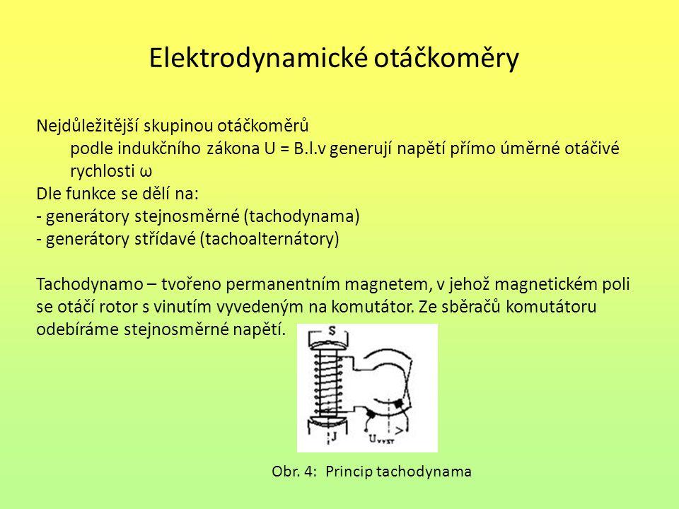 Elektrodynamické otáčkoměry