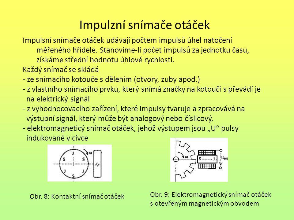 Impulzní snímače otáček