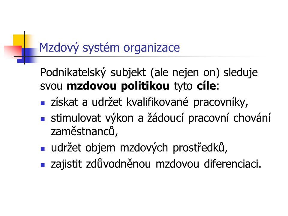 Mzdový systém organizace