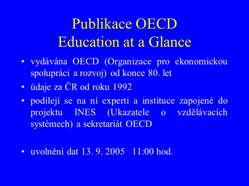 Publikace OECD Education at a Glance