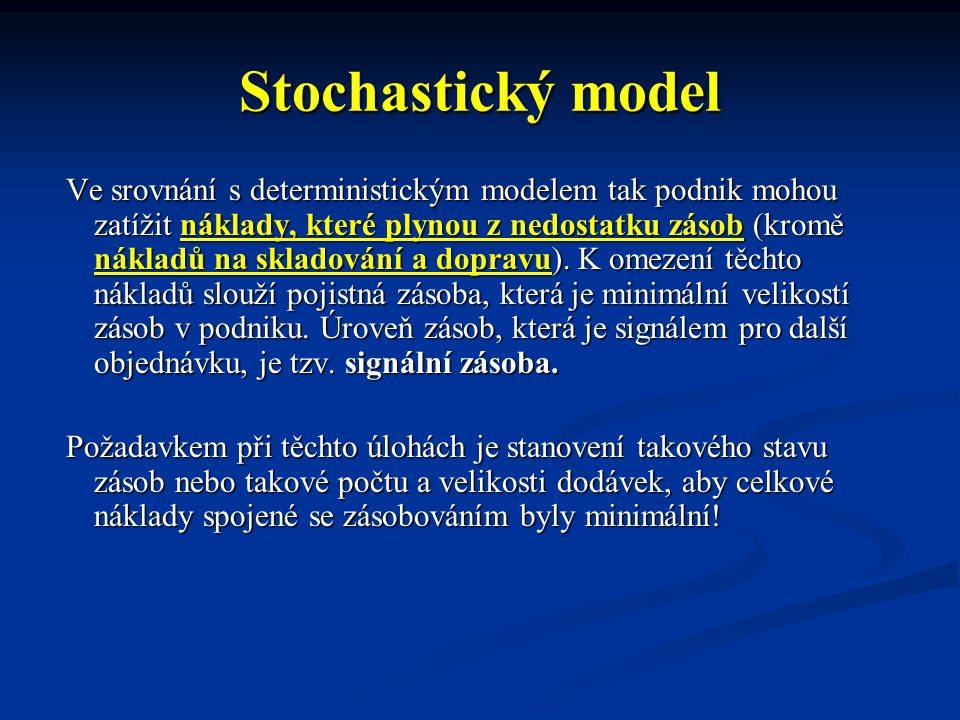 Stochastický model