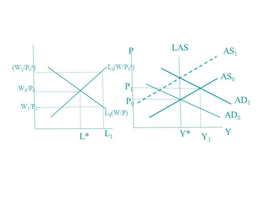 LAS P AS1 AS0 P1 P0 AD1 AD0 L1 Y Y* L* Y1 (W1/P0e) Ls(W/P0e) W0/P0