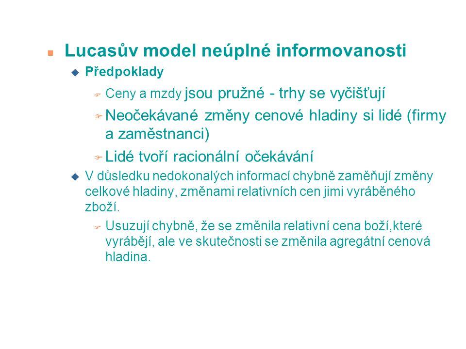 Lucasův model neúplné informovanosti