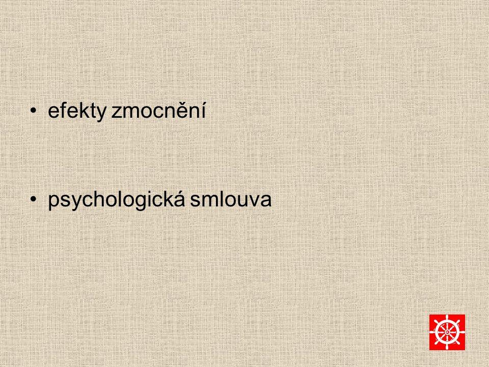 efekty zmocnění psychologická smlouva