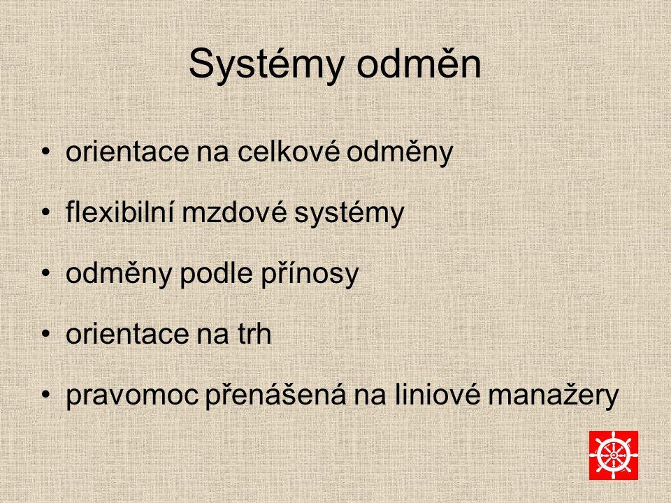 Systémy odměn orientace na celkové odměny flexibilní mzdové systémy
