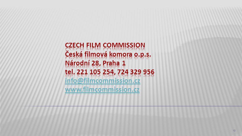 czech film commission Česká filmová komora o. p. s