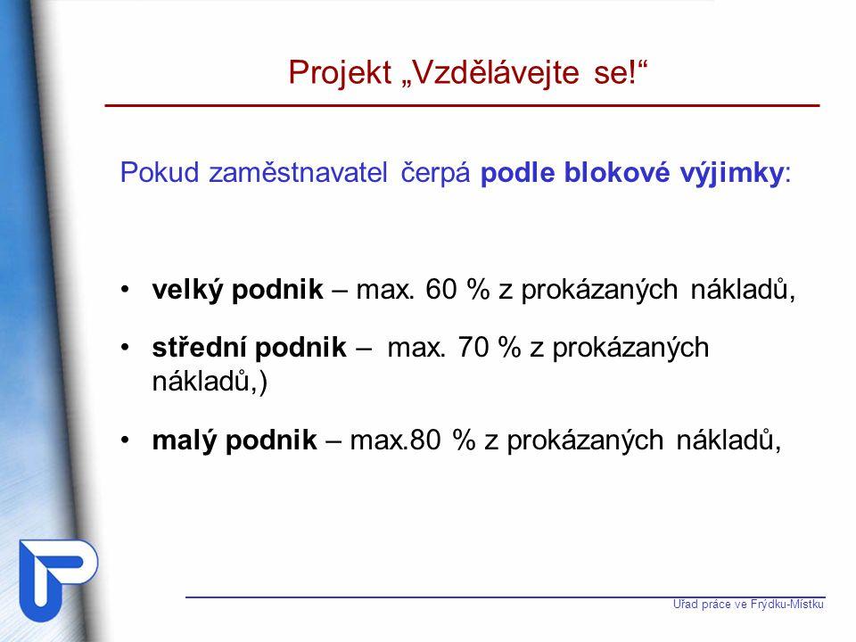 """Projekt """"Vzdělávejte se!"""