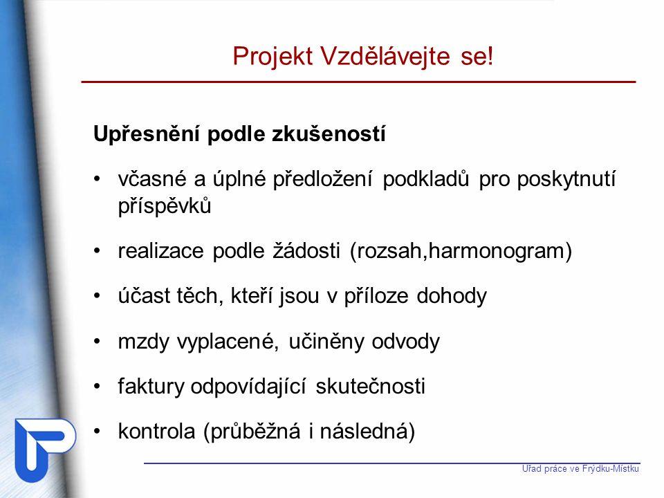 Projekt Vzdělávejte se!