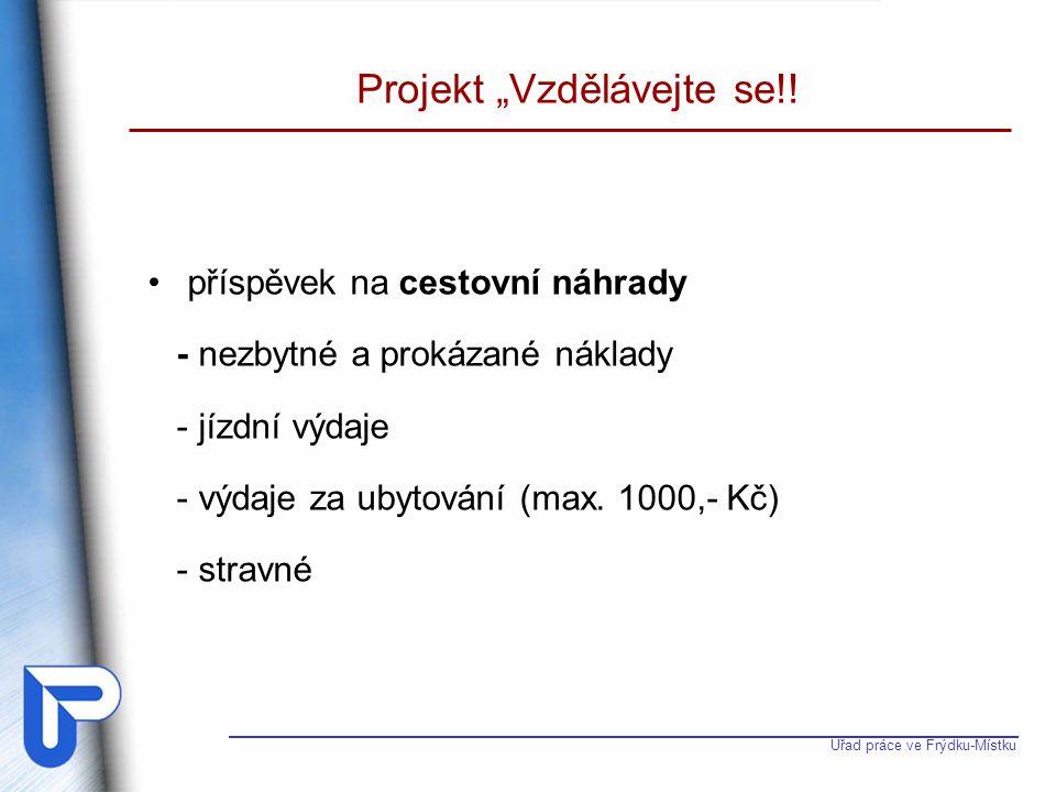 """Projekt """"Vzdělávejte se!!"""