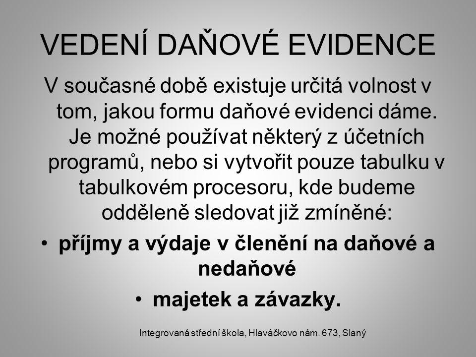 VEDENÍ DAŇOVÉ EVIDENCE