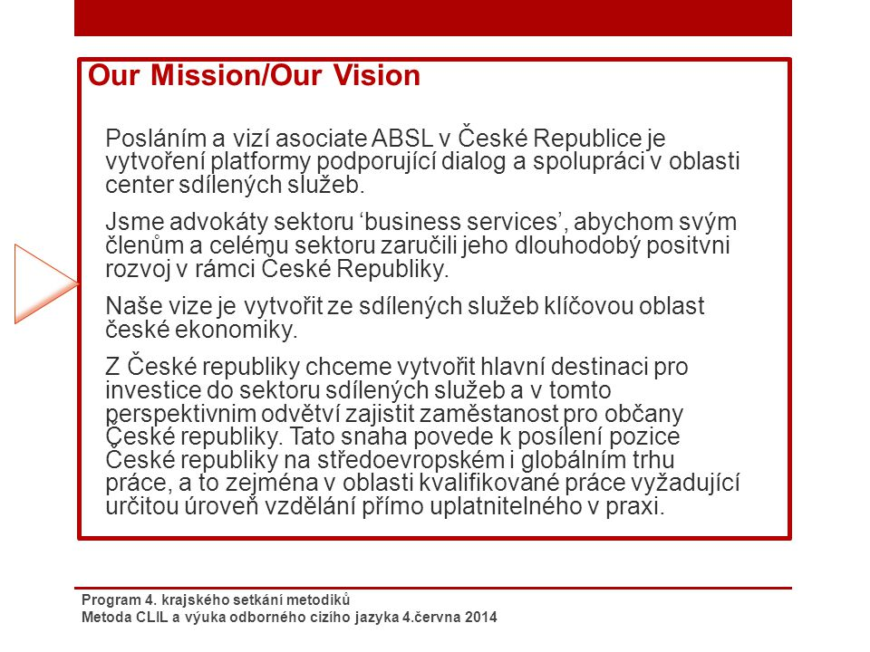 Our Mission/Our Vision