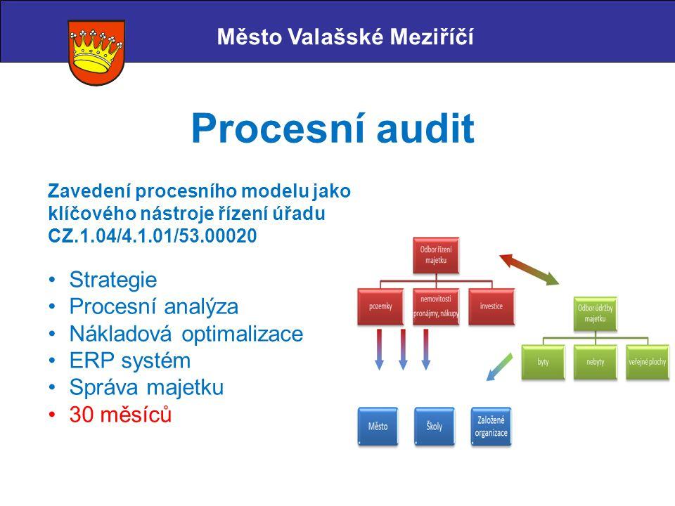 Procesní audit Město Valašské Meziříčí Strategie Procesní analýza