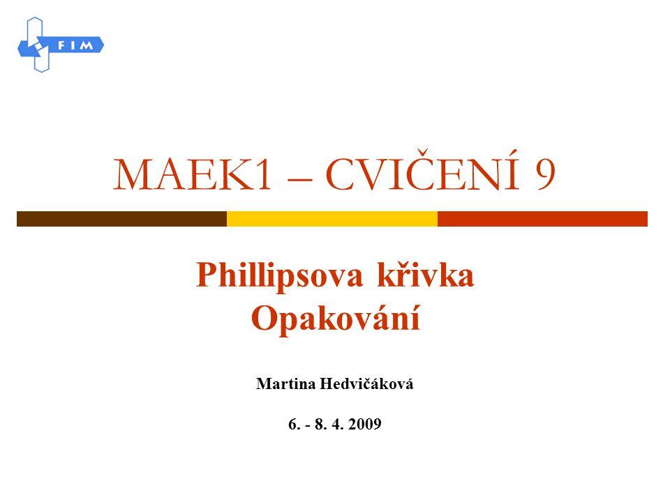 Phillipsova křivka Opakování Martina Hedvičáková 6. - 8. 4. 2009
